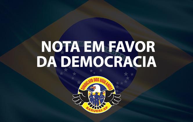 NOTA EM FAVOR DE DEMOCRACIA