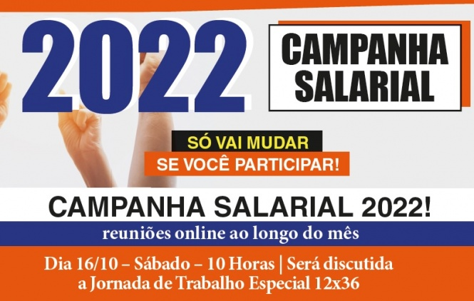 Campanha Salarial: Reunião do sábado (16) trata da jornada de trabalho 12×36